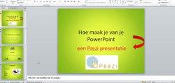 Hoe maak je van powerpoint een prezi?