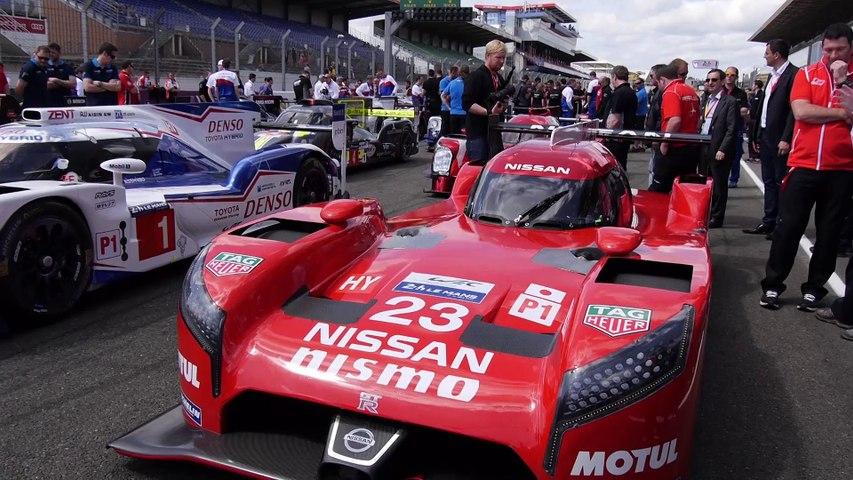 24 Heures du Mans - Les voitures prennent place pour la photo officielle !