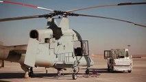 Unmanned Cargo Drone Lands in Afghanistan - K-MAX Landing at Camp Bastion USMC