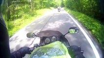 Un motard à Charleroi... Ballade moto les 1000 virages à Liège avec le moto club Caterpillar