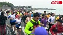 Marathon du Mont-Saint-Michel 2015: départ de Cancale