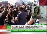 General Strike: Occupy protesters shut down Port of Oakland