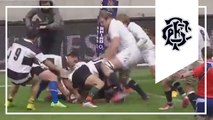 Waldrom pounces on loose ball for try - England v Barbarians
