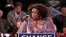 Oprah endorses Obama & speaks to a crowd in Des Moines, Iowa