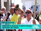 Protesters Demand Freedom for Puerto Rican Independence Hero
