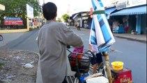 Street Food Vietnam. Vietnamese Quesadilla. Banh Trang Nuong in Saigon