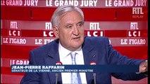 """Jean-Pierre Raffarin, invité du """"Grand Jury RTL / Le Figaro / LCI"""", partie 2"""