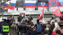 Switzerland: Anti-NATO protesters rally for Donbass in Zurich