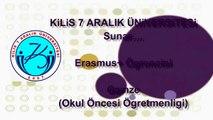 Erasmus+ Experience/Erasmus+ Deneyimi: Gamze (Kilis 7 Aralık Üniversitesi) Turkish