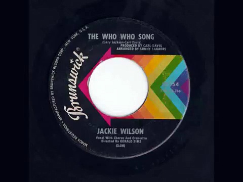 Jackie Wilson The Who Who Song
