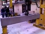 montage vidéo rupture poutre avec  cadre sur toute la poutre
