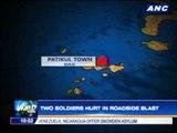 2 soldiers hurt in roadside blast