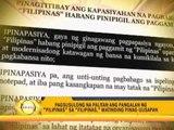 Linguists hit 'Filipinas' proposal