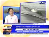 What caused Candelaria, Zambales beach collapse?