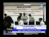 PNoy inspects 1st new airport under his term