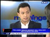 Trillanes  Opposition wary of Aquino's popularity