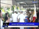 PNoy visits wake for slain Marines