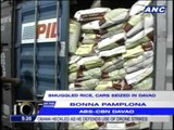 Smuggled rice, cars seized in Davao