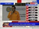 Erap, Isko proclaimed as winners in Manila