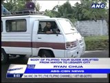 Mayon tour guide's remains retrieved