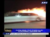 Pinay bride killed in limo fire on way to bridal shower