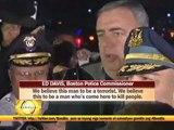 Boston on lockdown amid hunt for blast suspect
