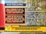 Metro road reblocking causes heavy traffic