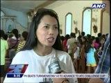 Catholic devotees carry giant cross in Camarines Sur