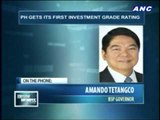 Tetangco: Investment grade rating will boost stock market