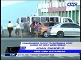 Passengers flock to Batangas port for Holy Week