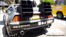 Real Back to the Future Car Delorean DMC 12 Detail, Time Machine and Engine Walkaround