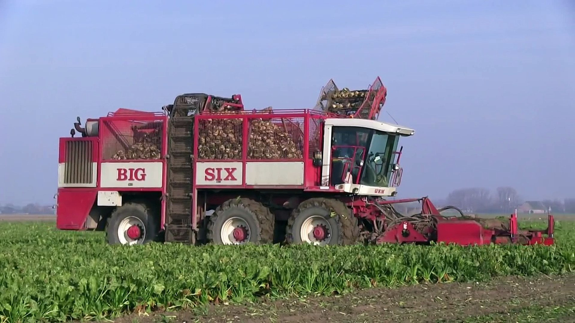 WKM/Agrifac Big Six sugar beet harvester 1080p