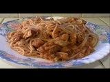 Les colins sauce piquante avec des spaghettis (recette rapide et facile) HD