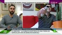 El portavoz de FACUA, Rubén Sánchez, entrevistado en Más Vale Tarde de La Sexta sobre #apagón30D