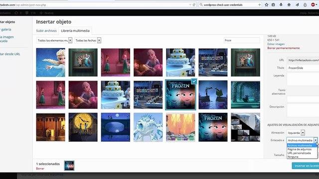 Como subir imagenes y galerías a Wordpress - Infectadostv.com