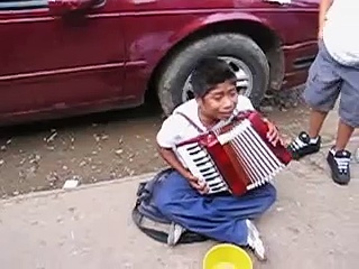 Amazing young singing street musician in Baja Mexico -