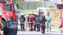 Metro inşaatında doğalgaz borusu patladı