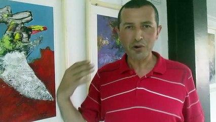 Ouchene Smail, artiste-peintre au centre culturel Mustapha Kateb