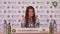 Press conference Lucie Safarova 2015 French Open / 4th Round