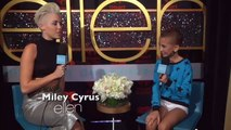 CoverGirl Talia Talks To Miley Cyrus At The iHeartRadio Music Festival