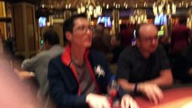 Bellagio fire alarm goes off while playing poker in the Bellagio Pokerroom