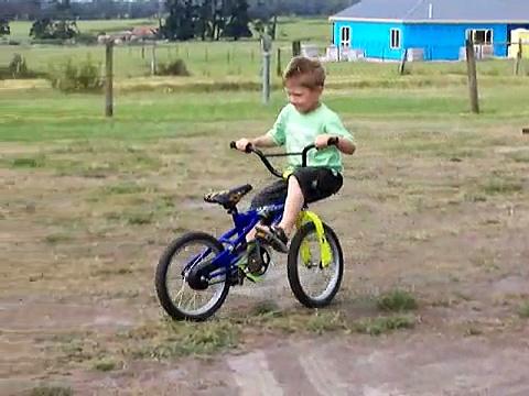 Riding a bike backwards