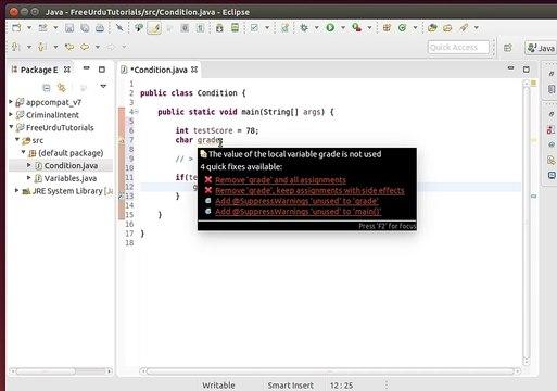 Java Beginner Tutorials in Urdu - Decision Making with If