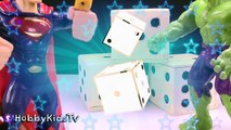 ROLL The DICE! Superman+HULK Roll Dice for Toy Surprises Hulk wants to Smash by HobbyKidsTV