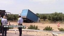 Σοβαρό τροχαίο με 2 τραυματίες στον αυτοκινητόδρομο κοντά στα διόδια Αρφαρών