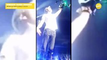 Enrique Iglesias - has hand sliced by drone in concert