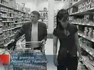 Adamo faisant l'épicerie janvier 2006