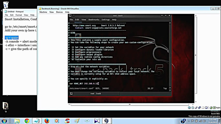 Snort Installation, configuration & detection