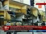Primeras Imagenes TV Terremoto Chile - Sab 27 Feb 2010