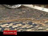 500 yıllık kabe örtüsüne lazerli tamirat